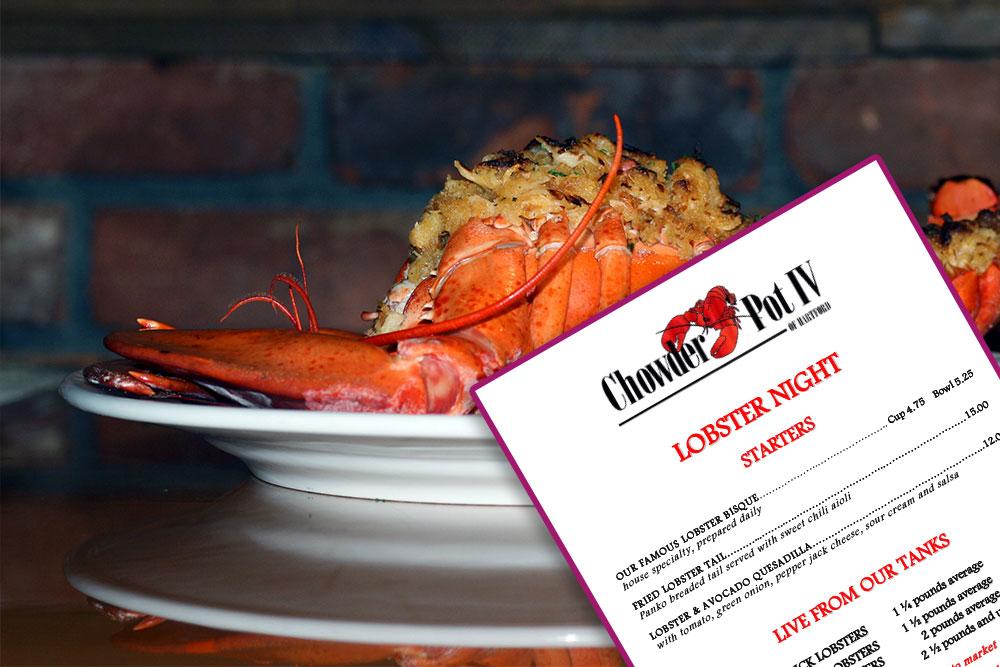 Lobster Night Menu