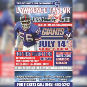 NY Giants Lawrence Taylor Ultimate Fan Experience