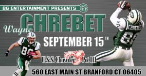 reputable site f785f dee66 NY Jets Wayne Chrebet Ultimate Fan Experience – Chowder Pot